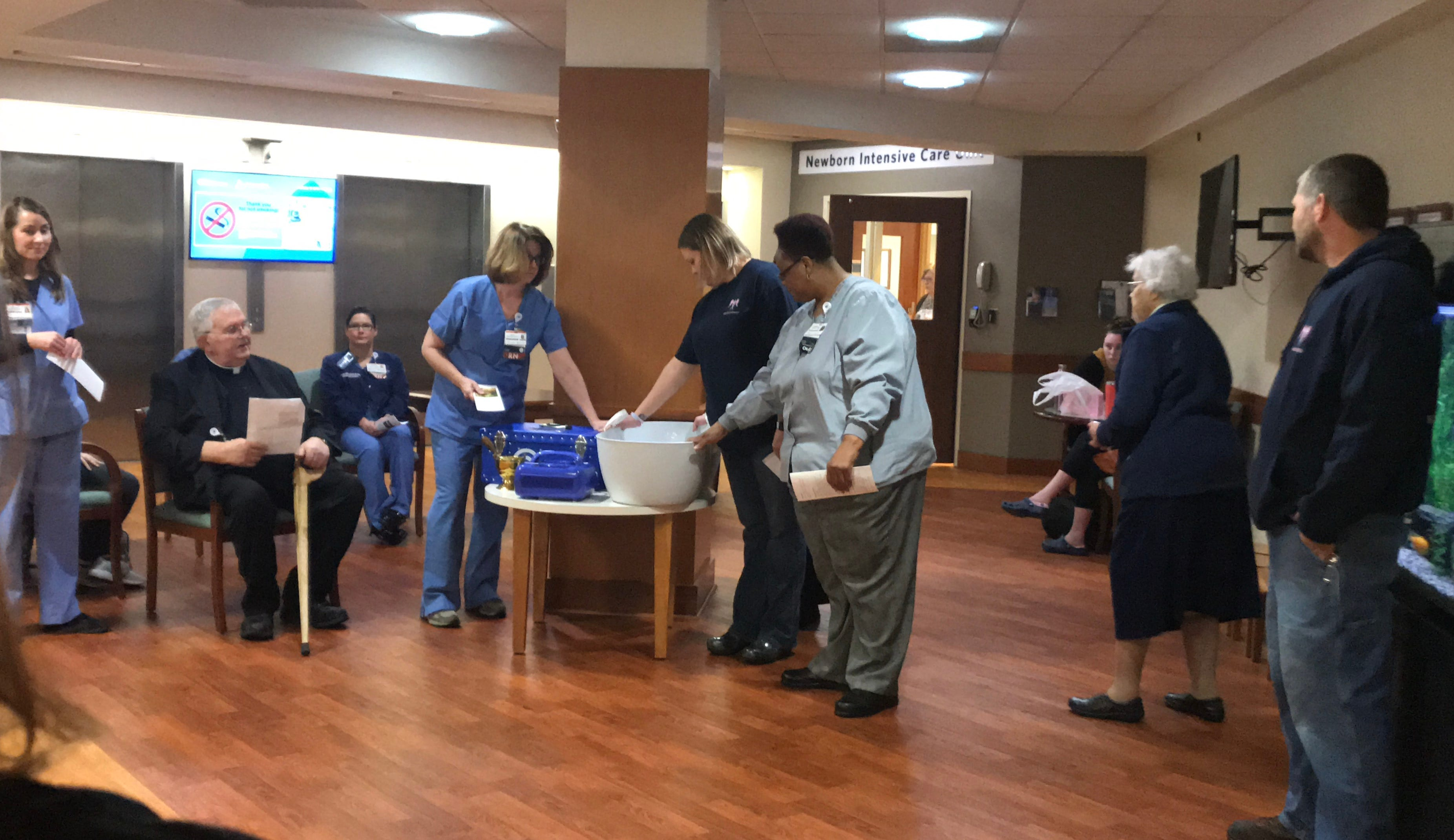 St. Vincent Hospital for Women & Children hosted a blessing and dedication ceremony for a recently donated CuddleCot.