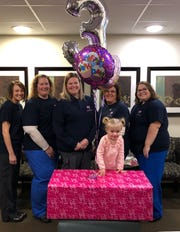 Emalyn's Angels delivered the CuddleCot to the hospital on the twin's third birthday last month.