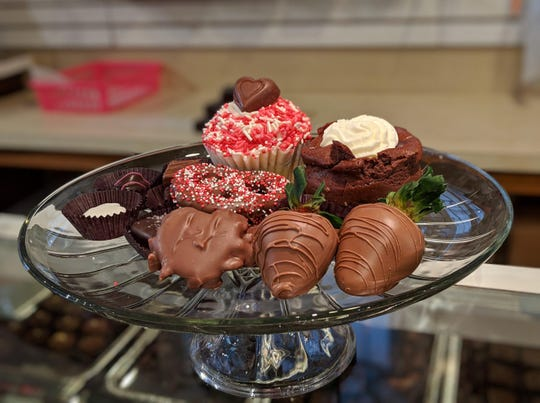 Chocolate-covered strawberries, cupcakes, turtles and assorted chocolates are a welcomed sight for those looking for sweet treat for their Valentine. Coco Beans Candy Cupcakes and More serves up more than a 150 dozen strawberries each Valentine's Day.