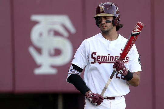 Florida State third baseman Drew Mendoza hit .313 with 17 doubles, seven home runs and 44 runs batted in in 2018.