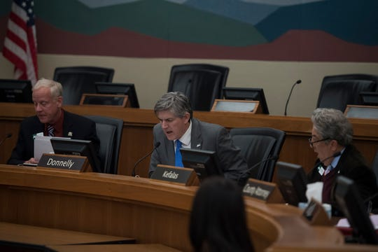The Larimer County Commissioners, debate an issue in this Coloradoan file photo.