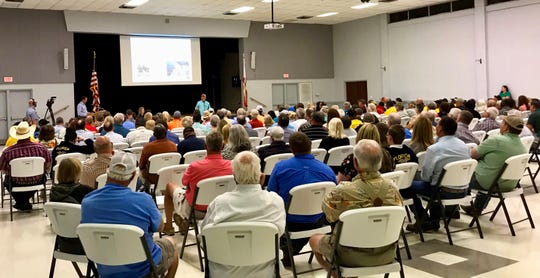 People packed Clewiston's John Boy auditorium for an Army Corps of Engineers listening session on Lake Okeechobee management.