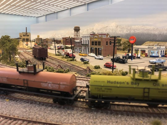 One of many meticulously recreated towns at Scale Rails of Southwest Florida's North Fort Myers clubhouse.