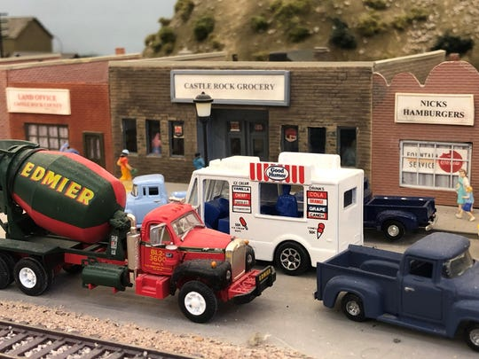 Scale Rails members recreated several California and Oregon towns, including Castle Rock.
