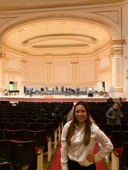 Heather Koskinas of Cape Coral's Oasis High School performed with other Southwest Florida students Sunday at Carnegie Hall.