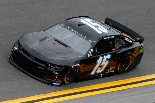 Ross Chastain, driver of the No. 15 Chevrolet, drives during practice for the Monster Energy NASCAR Cup Series 61st Annual Daytona 500 at Daytona International Speedway on Feb. 9 in Daytona Beach.