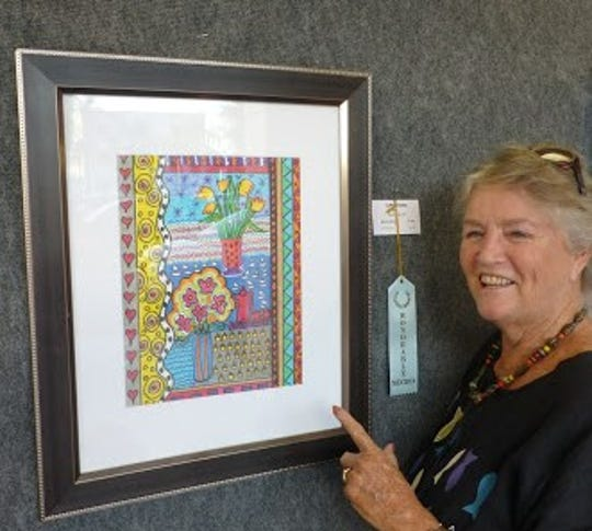 Local artist Nancy Terrell's unique collages kicked off the new year and were on exhibit in January in the Cape Coral Library.