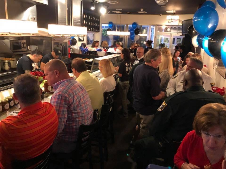 The  annual Cannolis, Cops & Canines event sponsored by Bruno's of Brooklyn Italian Eatery  and Gulf Coast Humane Society Monday. The event raised $21,570 for the society's shelter animals.