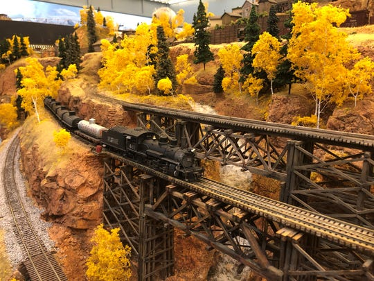 Members of Scale Rails of Southwest Florida lovingly recreated Colorado and Southern California in their North Fort Myers clubhouse.