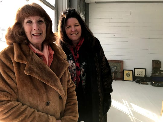 Owner Lynn Kenyon (right) and manager Paulette Hughes have a big vision for the Forge, which will open in Augusta. They'll have a retail store with unusual antiques and a real estate office, but they're open to suggestions for the rest of the space.