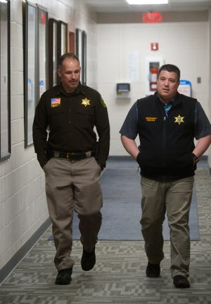 Undersheriff Cory Reeves, right, with Cascade County Sheriff Jess Slaughter in February, says a deputy will be hired by the end of July who will be based in Fort Shaw and patrol the Sun River Valley.