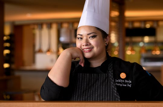 Jacklyn Borja, Pacific Islands Club pastry sous chef at the hotel's Bistro restaurant in Tumon on Feb. 7, 2019.