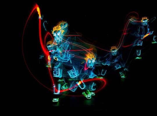 """iLuminate employs its own secret technology to blend dance and light in the dark. Its show """"Artist of Light"""" comes to the Preston Arts Center on Saturday, Feb. 16."""