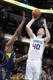 Cody Zeller playing against the Indiana Pacers.