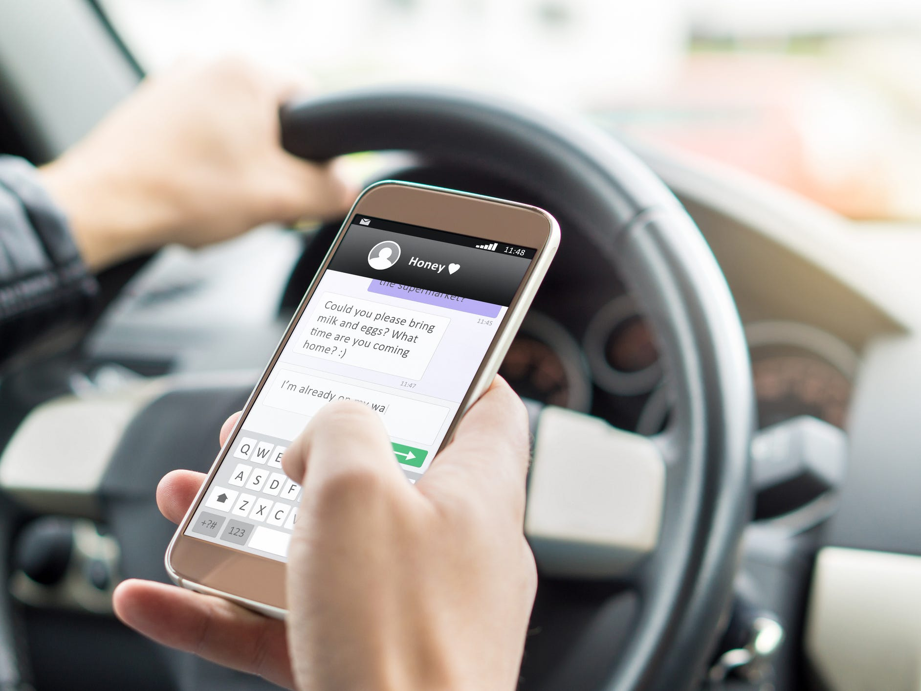 Did you know you're 23 times more likely to be in a crash while driving if you're texting?