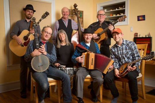 TOiVO band members include, standing from left, Paul Martin, Harley Campbell and Jim Reidy. Seated from left are Stefan Senders, Annie Campbell, Richard Koski and Jason Koski.
