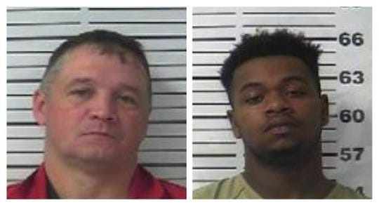Stephen Taylor, 43, of Murfreesboro (left), and Gregory Barnes, 22, of Humboldt (right) are being held at Gibson County Jail on charges of conspiracy to commit first-degree murder after law enforcement foiled an alleged murder-for-hire plot.