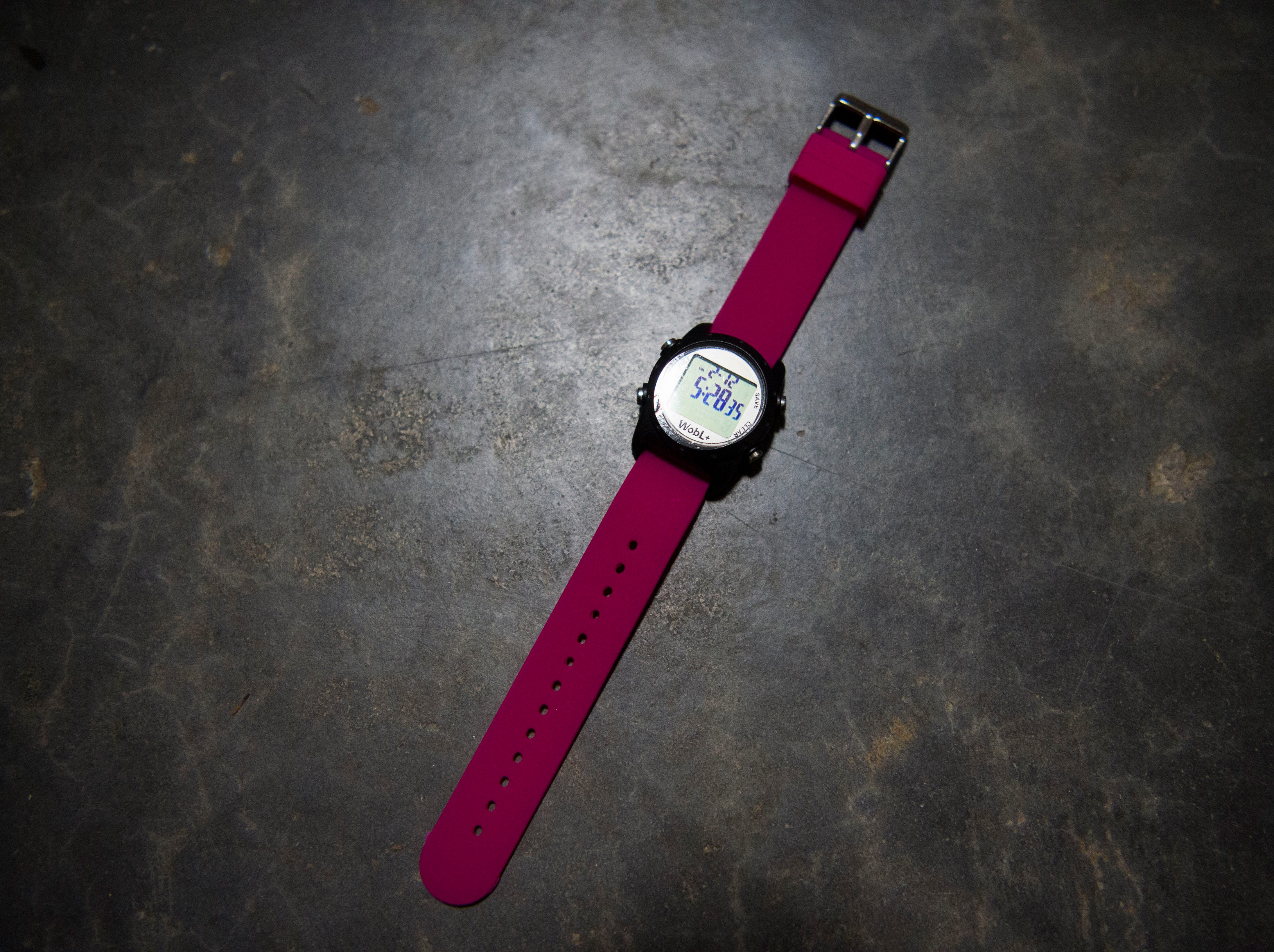 A photo of the WobL+ Watch at PottyMD in West Knoxville Tuesday, Feb. 12, 2019. The local company manufactures watches to help potty train children and other members of the population.