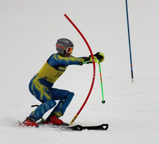 Hartland's Jake Pezzotti was second in the slalom and eighth in giant slalom in the KLAA ski meet.