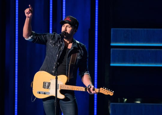 "Luke Bryan performs ""What Makes You Country"" at the 52nd annual CMA Awards at Bridgestone Arena on Wednesday, Nov. 14, 2018, in Nashville, Tenn."