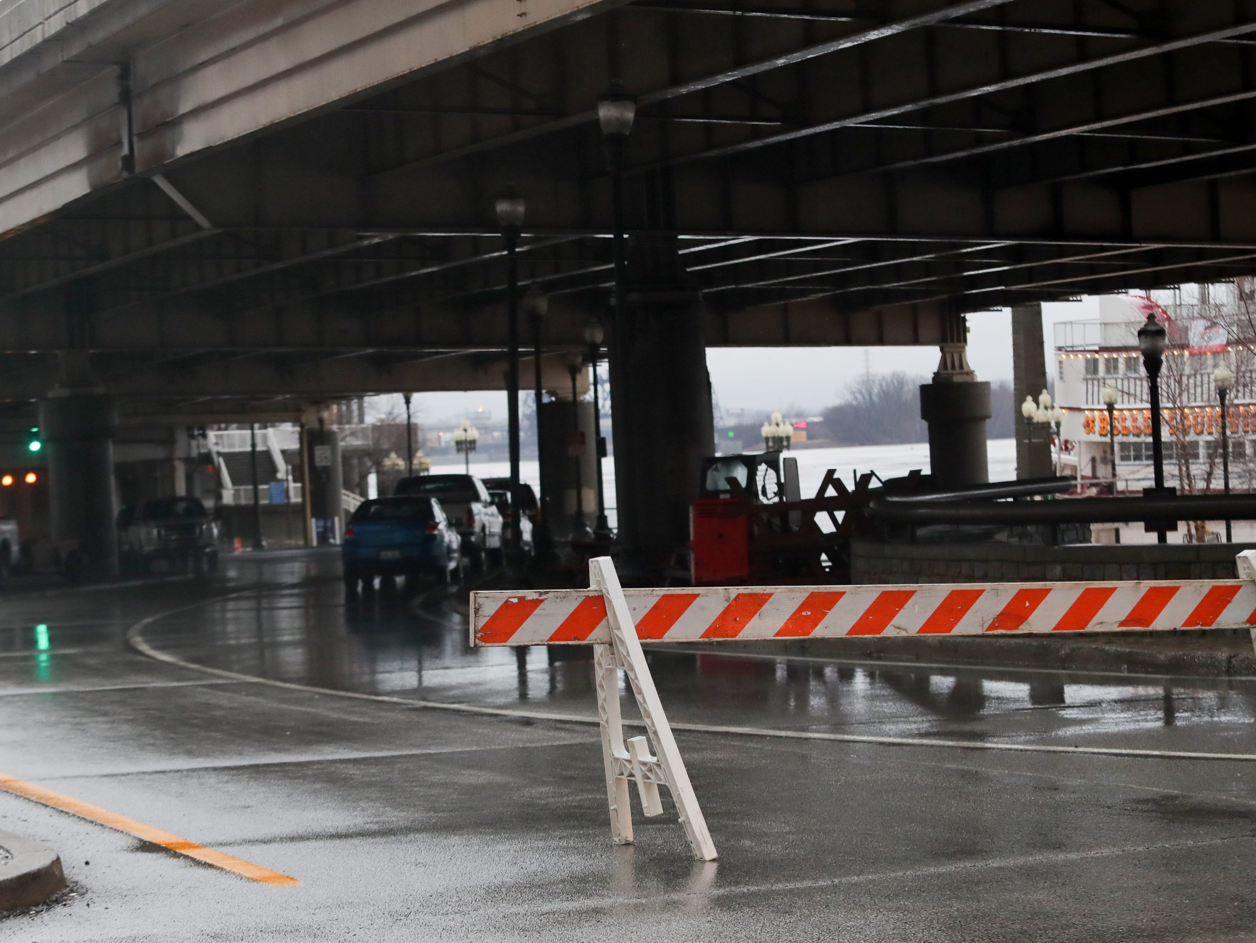 River Road is closed at the 3rd St. Exit off of I-64. Feb. 12, 2019