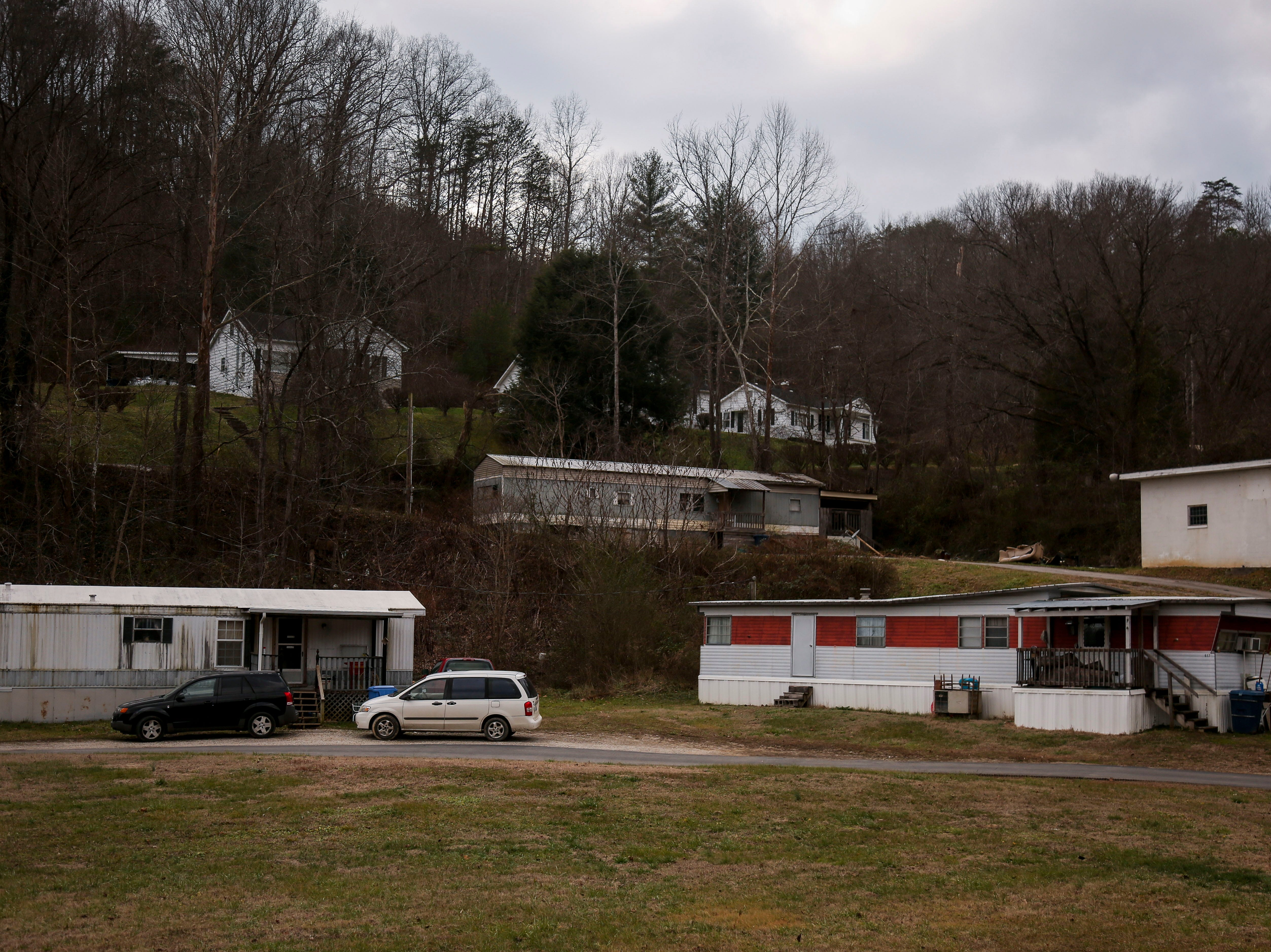 Trailer homes in Beatyville, Ky. on Jan. 9, 2019. Three Forks Regional Jail, in Lee County, was under quarantine in September 2018 due to Hepatitis A.