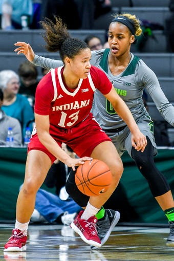 Hear a remark from Suzy Merchant about the performance of junior Shay Colley in a win over Indiana on Feb. 11, 2019.