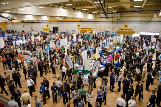 Michigan Technological University, in Houghton, attracts hundreds of employers to campus annually for its career fair.
