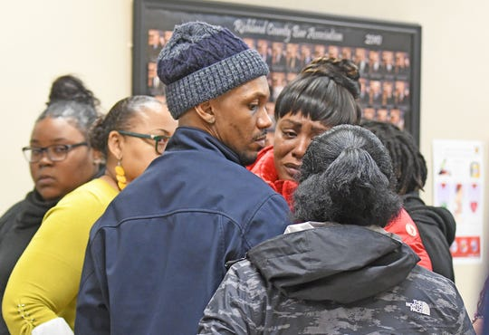 Loved ones of Terrence Harris are visibly upset after the jury in the Deshawn Dowdell murder trial could not reach a verdict on Tuesday afternoon.