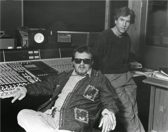 Jim Dickinson (left) and Joe Hardy at Ardent Studios.
