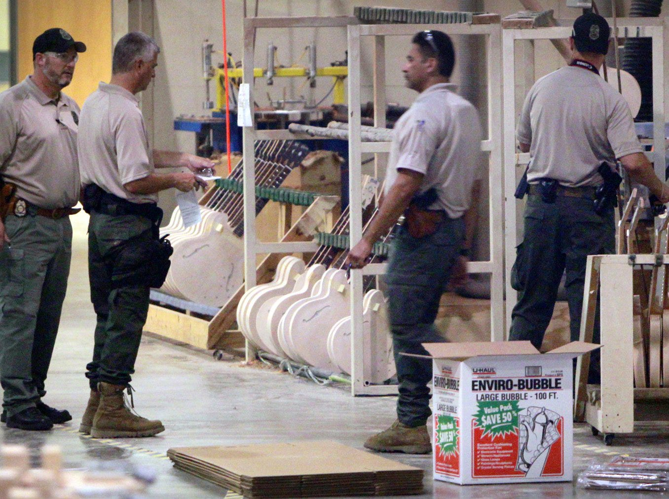 Aug. 24, 2011 - Federal investigators raided the workshop at the Gibson Guitar factory.