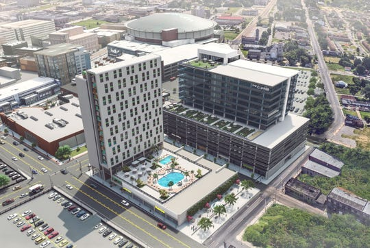 Somera Road, the company that owns the Gibson Guitar building that will be the new HQ for FedEx Logistics, has plans to redevelop a parking lot into an office tower, retail space and a hotel in Downtown Memphis.