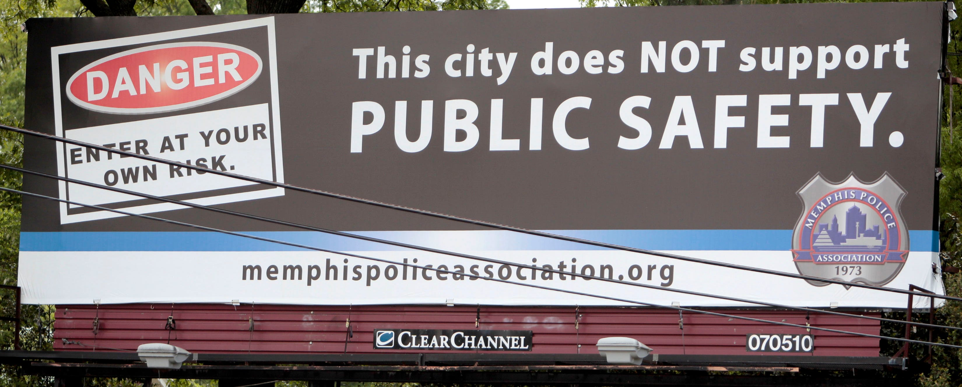 A Police Association billboard photographed April 23, 2013, on the corner of Hollywood and Poplar in Memphis.