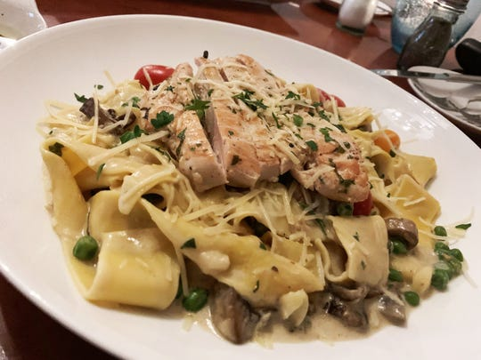 Wild mushroom chicken linguini from La Tavola, Marco Island.