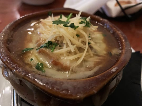 "The ""three-onion soup"" from La Tavola, Marco Island."