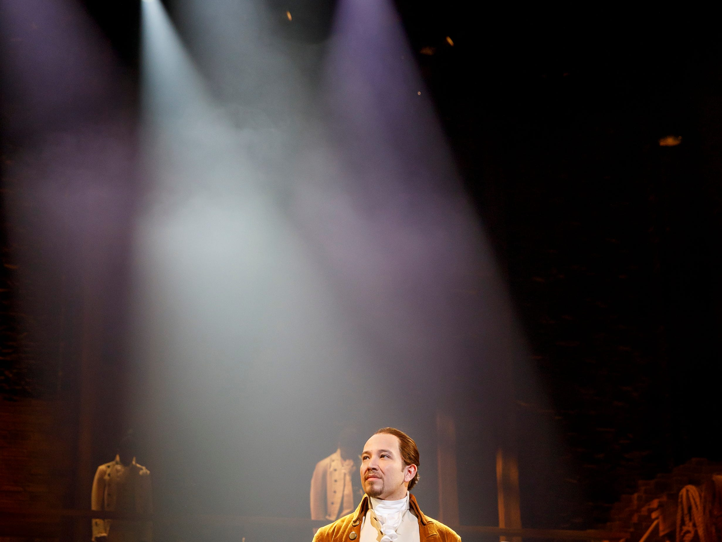 """Joseph Morales plays the title role in the national performing company of """"Hamilton."""""""