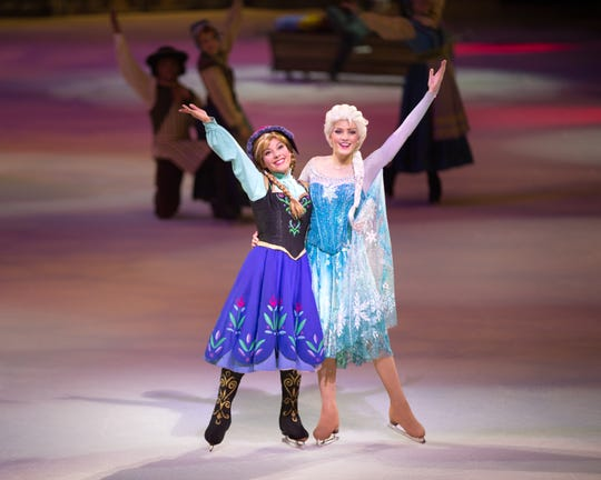"Anna and Else take the ice this weekend for ""Disney on Ice: 100 Years of Magic,"" Disney's debut performance at Fiserv Forum."
