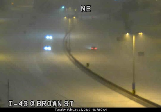 This is I-43 at Brown St. at about 4:15 this morning.
