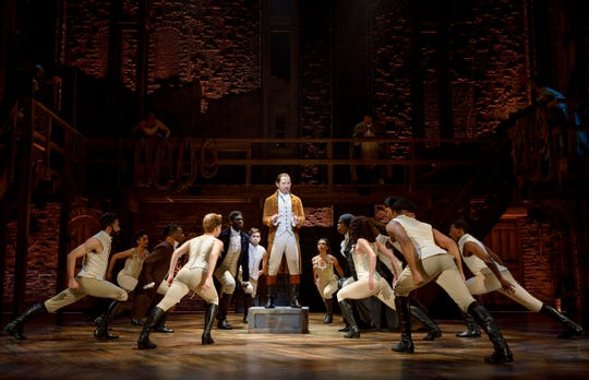"""Joseph Morales and cast perform in the national touring company of """"Hamilton."""""""
