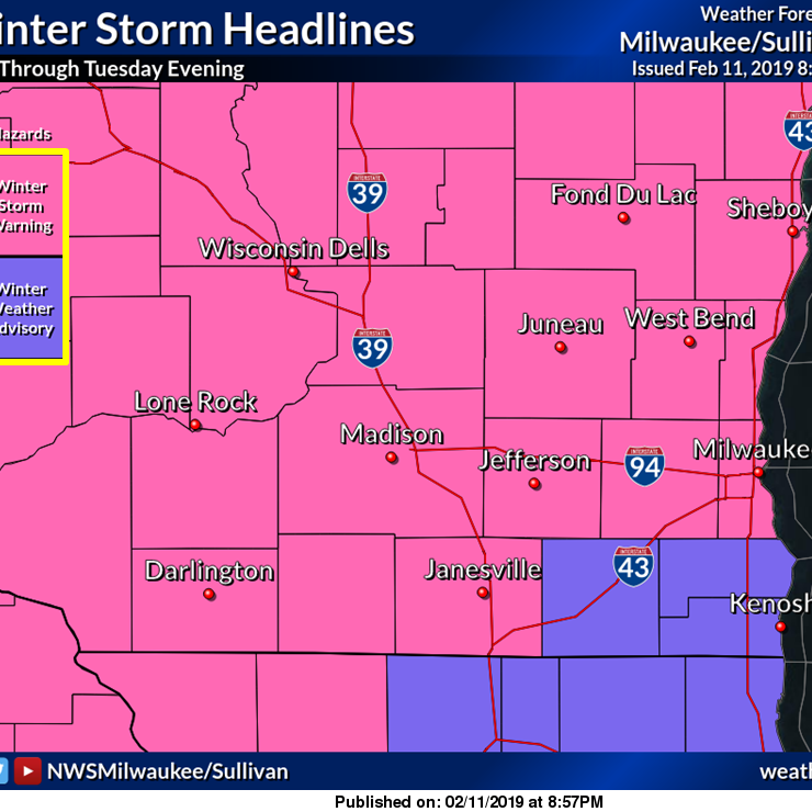 Milwaukee, Waukesha counties added to winter storm warning; 7 to 12 inches of snow predicted