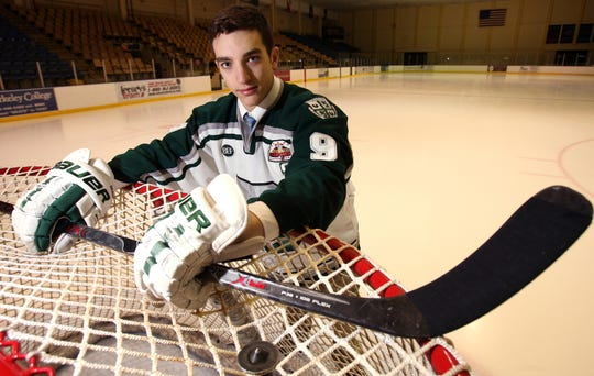 Delbarton's Kenny Agostino was the 2009-10 All Daily Record Hockey Player of the Year.