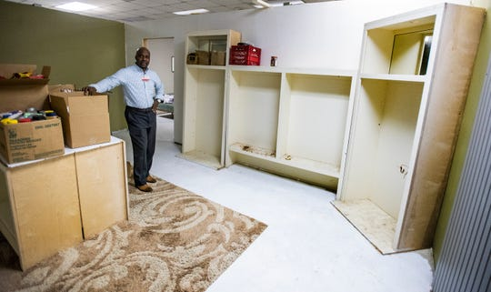 Anthony Glenn, Director of the Salvation Army in Montgomery, Ala., shows the building on his campus that was used for storage that is being renovated for multiple uses on Tuesday February 12, 2019.