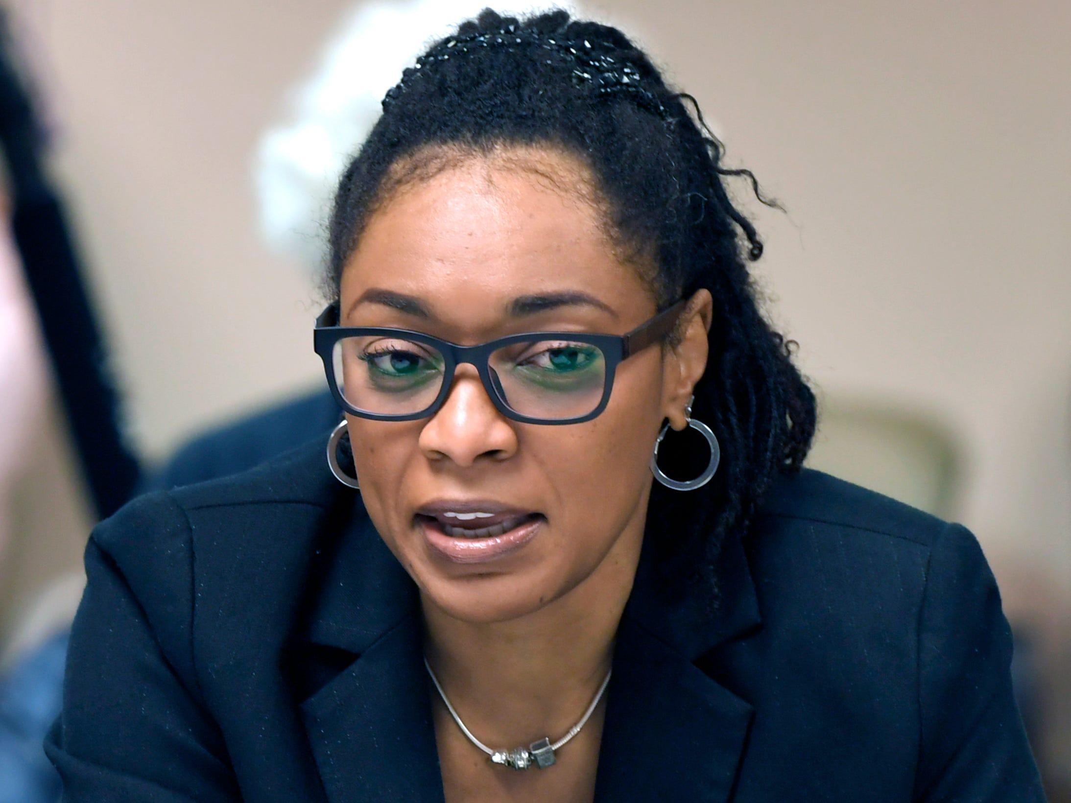Nashville's Community Oversight Board member Danita Marsh attends first meeting on Tuesday, Feb. 12, 2019.