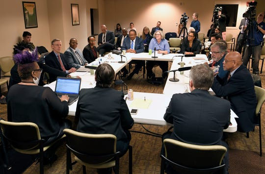 Nashville's Community Oversight Board meets for the first time at the Metro courthouse on Tuesday, Feb. 12, 2019.