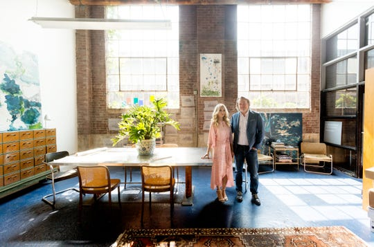 Designer Kimberly Kelly and architect Kevin Coffey fell in love after she took his class at O'More College of Design. For their first date, they took a walk in a park and watched a documentary film about design.
