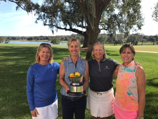 The team of LaPlaya Beach & Golf Club professional Laurel Kean,  Susan Skowronski, Monica Treadwell and  Maureen Whitehead won the Citrus Bowl Ladies Pro-Am at Mountain Lake Country Club in Lake Wales on Wednesday, Feb. 6, 2019 with a low gross 63. Kean also won the senior professional division, and Naples' Mary Jane Hiestand won the amateur division.