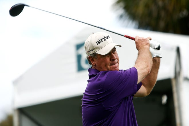Hal Sutton, shown here at TwinEagles in 2014, is playing in the Chubb Classic this week at The Classics Country Club at Lely Resort after rededicating himself to the game.