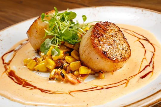Jumbo sea scallops for dinner at Jimmy P's Charred.