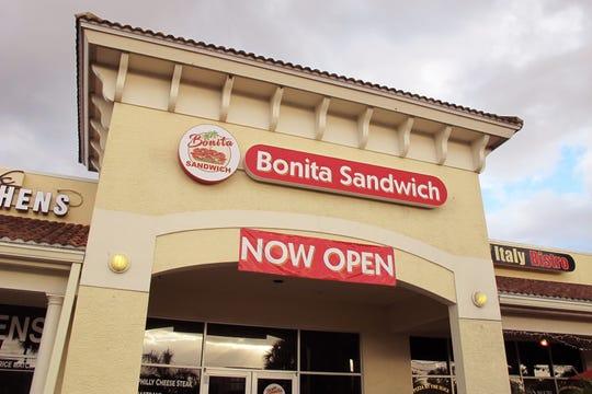 Bonita Sandwich opened Dec. 1 in the former longtime space of Capriotti's Sandwich Shop on U.S. 41 in Bonita Springs.
