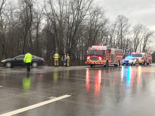 Heath Fire and Police are investigating a crash on Hopewell Drive on Tuesday afternoon.